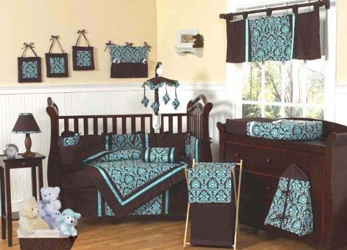 Damask Crib Bedding Set