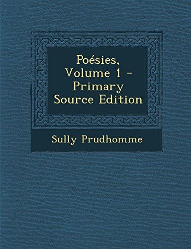 Poésies, Volume 1 - Primary Source Edition