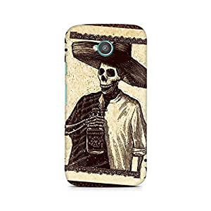 Mobicture Skull Abstract Premium Printed Case For Moto E2