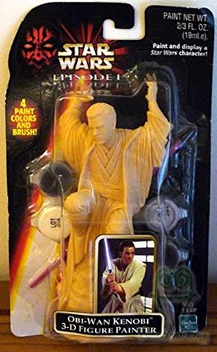 Obi-wan Kenobi 3-D Figure Sculpture Painter with Paint and Brush - Star Wars Episode 1 - 1