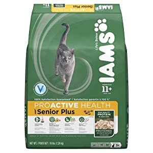 Iams Proactive Health Senior Plus Premium Cat Nutrition, 16 Pound