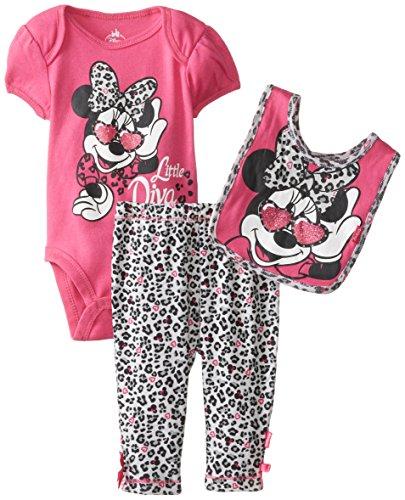 Disney Baby Girls Newborn Minnie Mouse 3 Piece Set, Pink, 6-9 Months front-604155