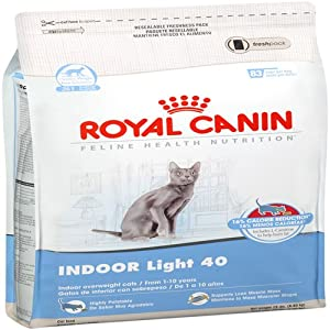 Royal Canin Dry Cat Food, Indoor Light 40 Formula, 15-Pound Bag