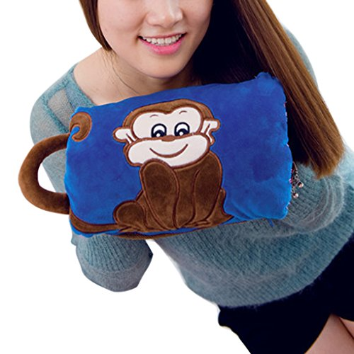 Winter Cute Cartoon Soft Velvet Detachable Washable Cover Hand Warmer With Handle Rechargeable Electric Explosion-proof Hot Water Bottle Pain Relief Sack Warming Bag Heater (No Water Injection) (Hot Water Foot Warmer compare prices)