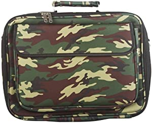 World Traveler Green Camouflage 15-inch Computer Laptop Case Bag