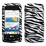 Zebra Design Snap On Phone Cover Protector Case for LG Ally VS740 Verizon W ....