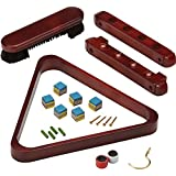 Fat Cat By GLD Products Fat Cat 2-Piece Wall Mounted Billiard/Pool Cue Rack And Accessory Set