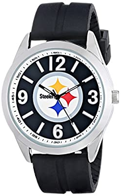 "Game Time Men's NFL-VAR-PIT ""Varsity"" Watch - Pittsburgh Steelers"