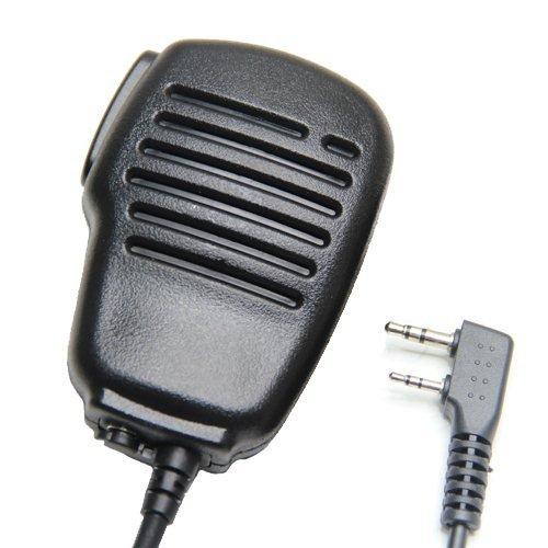 Rainproof 2-Pin Shoulder Remote Speaker Mic Microphone Ptt For Kenwood Wouxun Puxing Baofeng Two Way Radio 2Pin