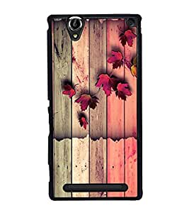 Wooden Pattern 2D Hard Polycarbonate Designer Back Case Cover for Sony Xperia T2 Ultra :: Sony Xperia T2 Ultra Dual SIM D5322 :: Sony Xperia T2 Ultra XM50h