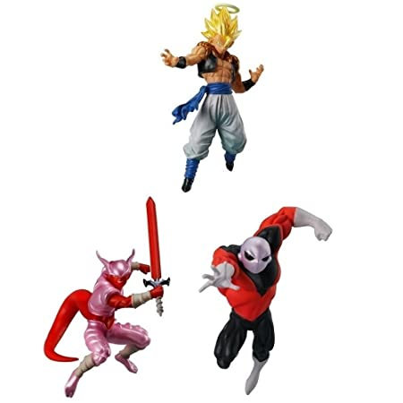 DRAGON BALL Super 3 Différents FIGURINES de Collection GOGETA JIREN et JANEMPA de BATTLE SERIES 04 Bandai Gashapon ORIGINAL