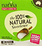 Natvia 100 % Natural Sweetener 40 Sticks (Pack of 4)