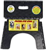 B & R Plastics 1016BK E-Z Foldz Black Step Stool
