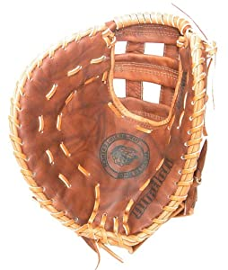Nokona AMGFB-W Open Web Base Mitt Walnut Leather Baseball Glove (12.5-Inch) by Nokona