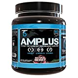 AMPLUS Natural Pre-Workout Supplement -  Doctor Formulated With Trademarked Clinically Proven Ingredients, Sustained Energy & Enhanced ATP Production, All-Natural Flavor - Berry, 618 Gram