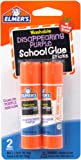 Elmers Disappearing Purple School Glue Sticks, 0.21 oz Each, 2 Sticks per Pack (E522)
