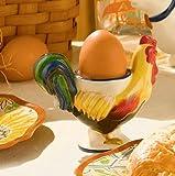 Grasslands Road 6-Pack Rooster Egg Cup 4-Inch
