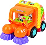 Set-Of-3-Friction-Toys-TG641-Friction-Powered-Push-Go-Cement-Mixer-Truck-Street-Sweeper-Harvester-Truck-With-Automatic-Functions-By-ThinkGizmos-Trademark-Protected