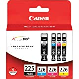Canon PGI-225 BK/ CLI-226 4530B008 C,M,Y 4 Pack Value Pack inside Retail Packaging