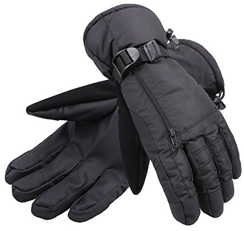 ANDORRA Men's Waterproof Thinsulate Touchscreen Winter Ski Gloves,S,Black (Water Sports Gloves compare prices)