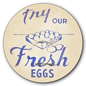 Try Our Fresh Eggs Metal Sign