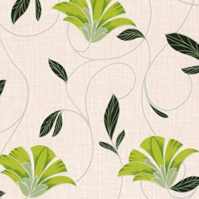 Erismann Suzi Floral Wallpaper Green Cream