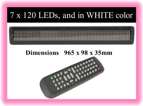 Tc59-Led White Color Scrolling Digital Remote Programmable Message Sign Board...