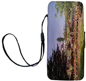 Rikki Knight Claude Monet Art Garden at Sainte-Adresse Flip Wallet iPhoneCase with Magnetic Flap for iPhone 5/5s - Garden at Sainte-Adresse