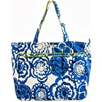 Ju-Ju-Be Super Be Zippered Tote Diaper Bag (Cobalt Blossoms)
