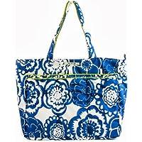 Ju-Ju-Be Super Be Zippered Tote Diaper Bag (Cobalt Blossoms)