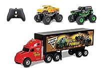 New Bright R/C S/F Hauler Set Car Carrier with Two Mini Monster Jam Trucks (Grave Digger & El Toro Loco), 22