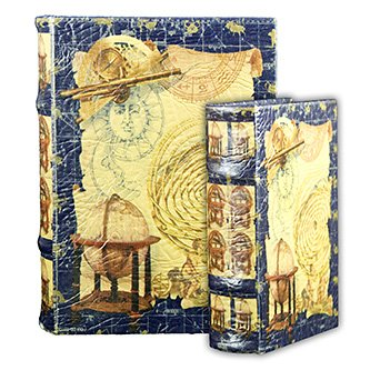 Galileo - Instruments Of The Astronomer Secret Book Box Set With Telescope, Globe, And Constellations