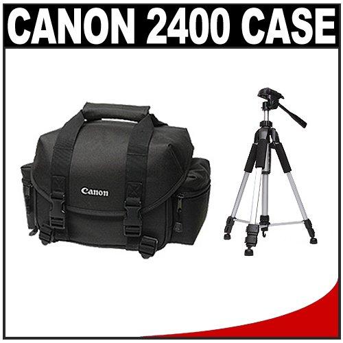 Canon 2400 Digital SLR Camera Case Gadget Bag + Tripod Kit for EOS 7D, 5D, 60D, 50D, Rebel T3, T3i, T2i, T1i, XS Digital SLR Cameras