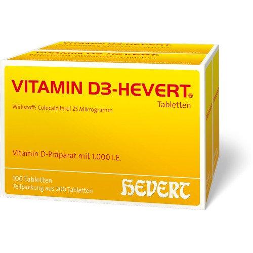 Vorschaubild: VITAMIN D3 Hevert Tabletten 1000 I.E. 200 St