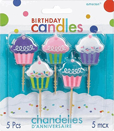 Amscan Cupcake Toothpick Birthday Candle Set, Multicolor - 1