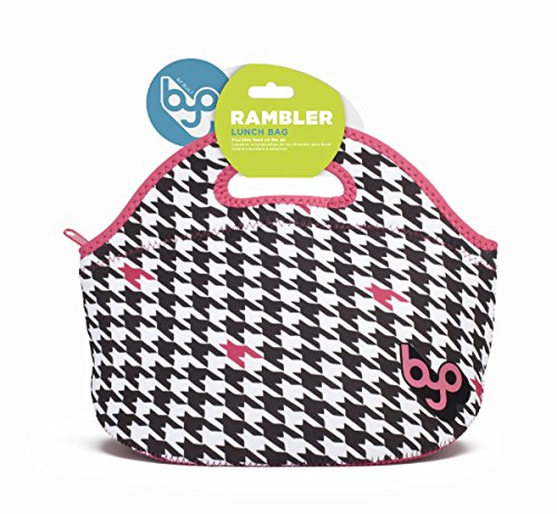 BUILT NY Rambler Designer Neoprene Insulated Lunch Bag, Houndstooth Black (B-LB35-HTC)