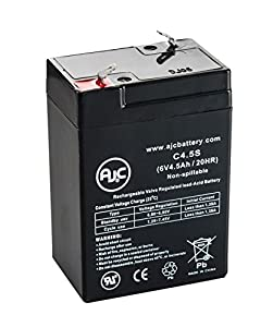 Portalac PE6V4 6V 4.5Ah UPS Battery - This is an AJC Brand® Replacement