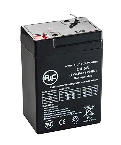Batterie Panasonic LC-R6V4MC2 6V 4.5Ah Acide scellé de plomb - Ce produit est un article de remplacement de la marque AJC®