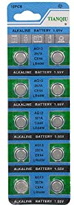 100 of AG13/357A Alkaline Button Cell Watch Battery