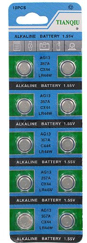 AG13/LR44 Alkaline Button Cell Battery – 10 pack