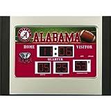 Alabama Crimson Tide UA NCAA Scoreboard Desk & Alarm Clock