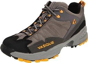 Vasque Men's Velocity Trail Running Shoe,Shark/Mango,9 W US