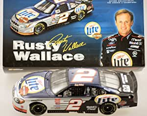Action - NASCAR - 2001 - Rusty Wallace #2 - Miller Lite / Harley Davidson - Ford Taurus - RARE - 19,884 Produced - 1:24 Scale - Die Cast - Stock Car - Limited Edition - Collectible