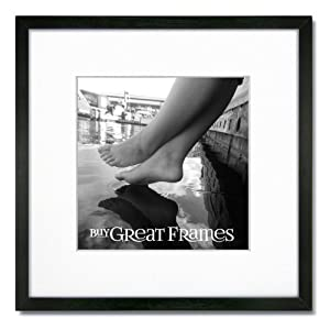 Amazon Com One 12x12 Square Black Wood Picture Frame And