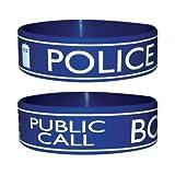 Trendy Doctor Dr Who Wristband Bracelet - Tardis Police Box Design