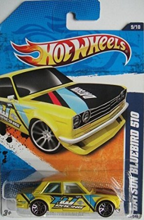 HOT WHEELS DATSUN BLUEBIRD 510 NIGHTBURNERZ 97/240 YELLOW 9/10 - 1