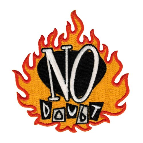 No Doubt Flame Logo Embroidered Patch