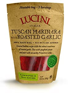 Lucini Italia Tuscan Marinara With Roasted Garlic Sauce 135-ounce Pouches Pack Of 6 from Lucini Italia