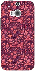 The Racoon Lean Chai the Tea Pink hard plastic printed back case / cover for HTC One (M8)