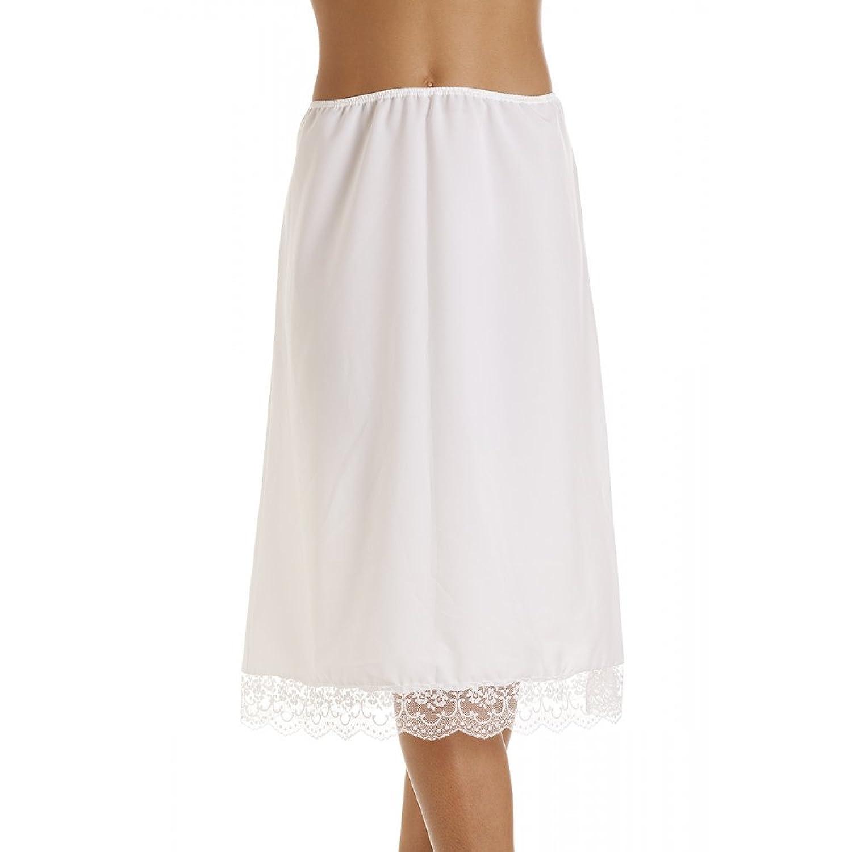 Weiß Dessous Spitze Saum Damen Hälfte Unterrock kaufen
